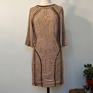 Spotlight by Warehouse Geometric Sequin Dress